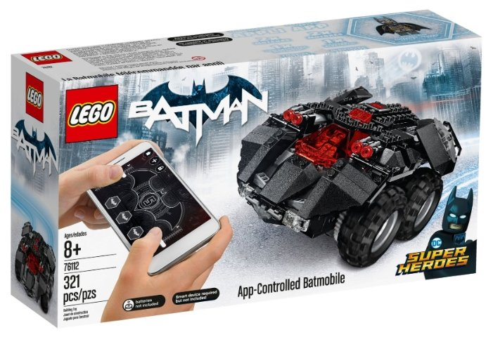 Электромеханический конструктор LEGO DC Super Heroes 76112 Бэтмобиль с дистанционным управлением