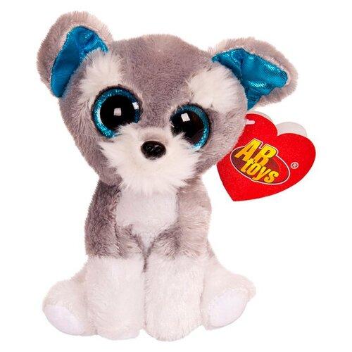 Купить Мягкая игрушка ABtoys Собачка серая 15 см, Мягкие игрушки