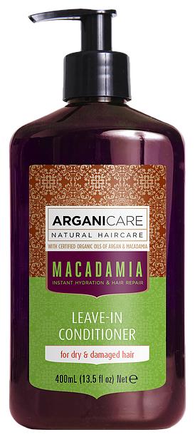 ARGANICARE Argan Oil & Macadamia Несмываемый кондиционер для волос с маслом макадамии для сухих и поврежденных волос