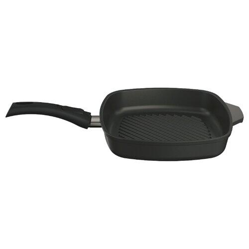 Сковорода-гриль НЕВА МЕТАЛЛ ПОСУДА Титан 94028G 28х28 см, съемная ручка