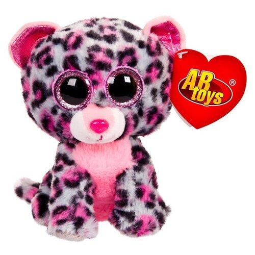 Купить Мягкая игрушка ABtoys Леопард серый 15 см, Мягкие игрушки