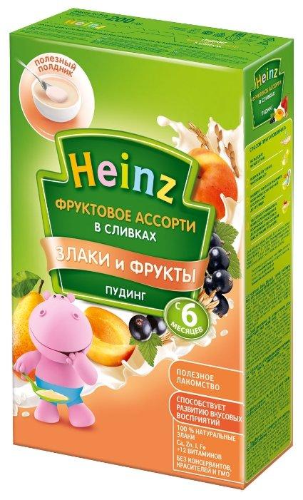 Каша Heinz молочный (пудинг) фруктовое ассорти в сливках (с 6 месяцев) 200 г
