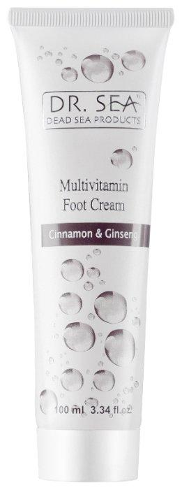 Dr. Sea Крем для ног мультивитаминный с экстрактами корицы и женьшеня 100 мл туба