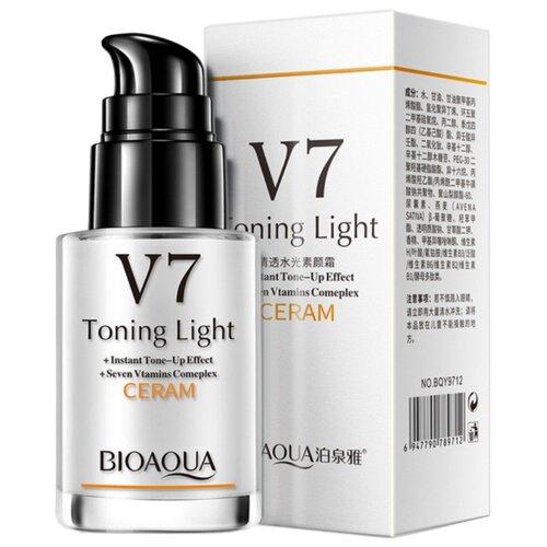 BioAqua V7 Toning Light CERAM Крем-сыворотка для лица витаминная омолаживающая, 30 мл dr jart v7 toning light