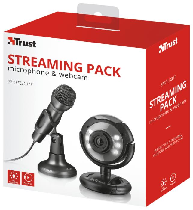 Веб-камера Trust Spotlight Streaming Pack