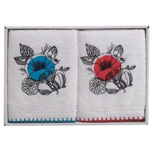 Аллегро комплект полотенец Мальва голубой/розовый