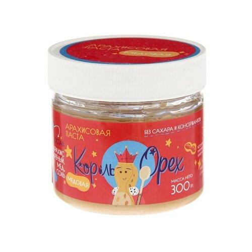 Король Орех Арахисовая паста медовая 300 г король орех паста крем ореховая из фундука 200 г