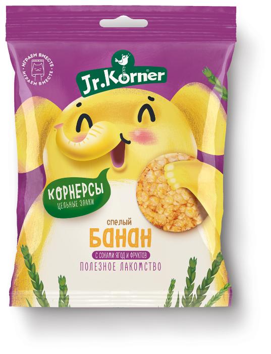Мини хлебцы рисовые Jr.Korner Спелый банан с соками ягод и фруктов 30 г