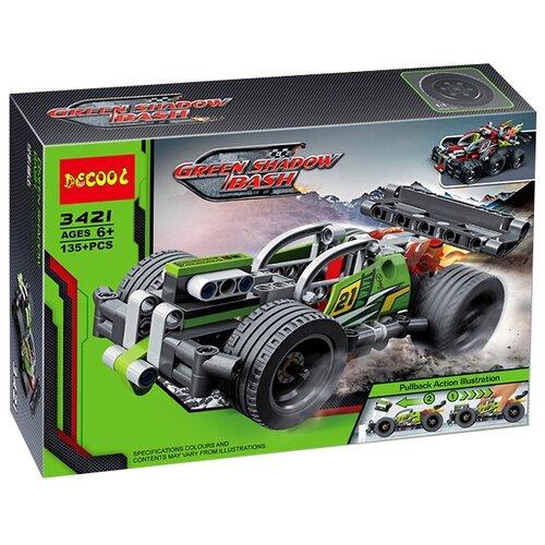 Купить Конструктор Jisi bricks (Decool) Technic 3421 Зеленый гоночный автомобиль, Конструкторы