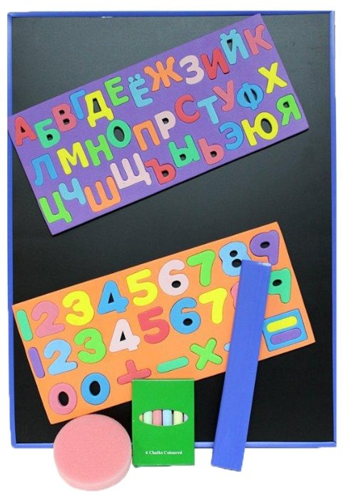 Доска для рисования детская Kribly Boo с магнитами, мелками и губкой (3289)