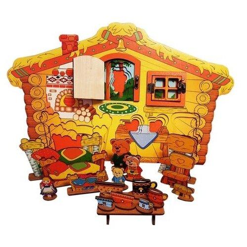 Купить Нескучные игры Настольный 3D театр с элементами бизиборда Три медведя (7971), Кукольный театр