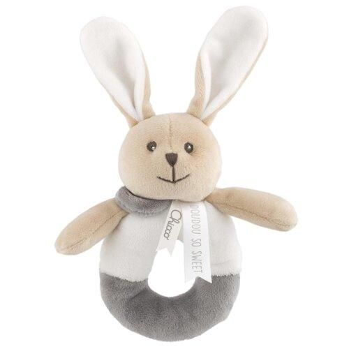 Купить Погремушка Chicco Зайчик серый/бежевый, Погремушки и прорезыватели