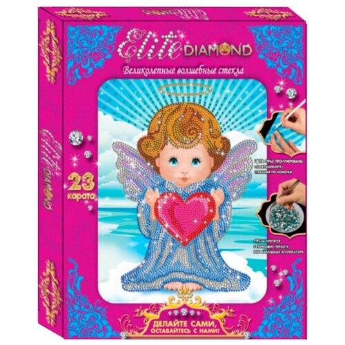 Лапландия Набор алмазной вышивки Elite Diamond Ангелочек (45733) 21.5х27 см статуэтка pavone муз фигурка pavone ангелочек 103176