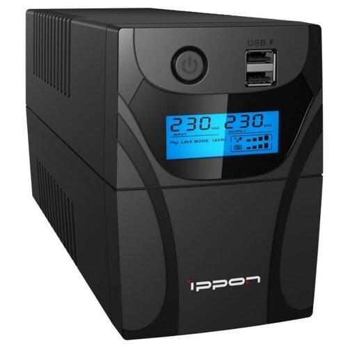 Интерактивный ИБП IPPON Back Power Pro II 400 ибп ippon 1030309 back power pro ii 800