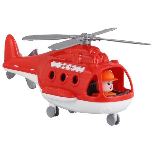 Фото - Вертолет Полесье Альфа пожарный (68651) в коробке 29.5 см красный полесье набор игрушек для песочницы 468 цвет в ассортименте