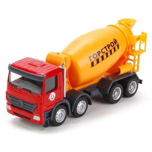 Купить Бетономешалка ТЕХНОПАРК U1401A-6 1:64 13 см красный/желтый, Машинки и техника
