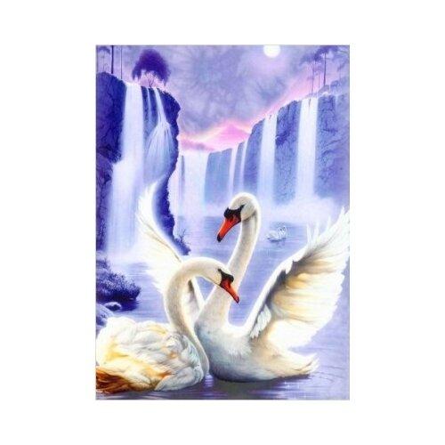 Купить Алмазная живопись Набор алмазной вышивки Лебединая пара (АЖ-197) 50х67 см, Алмазная вышивка