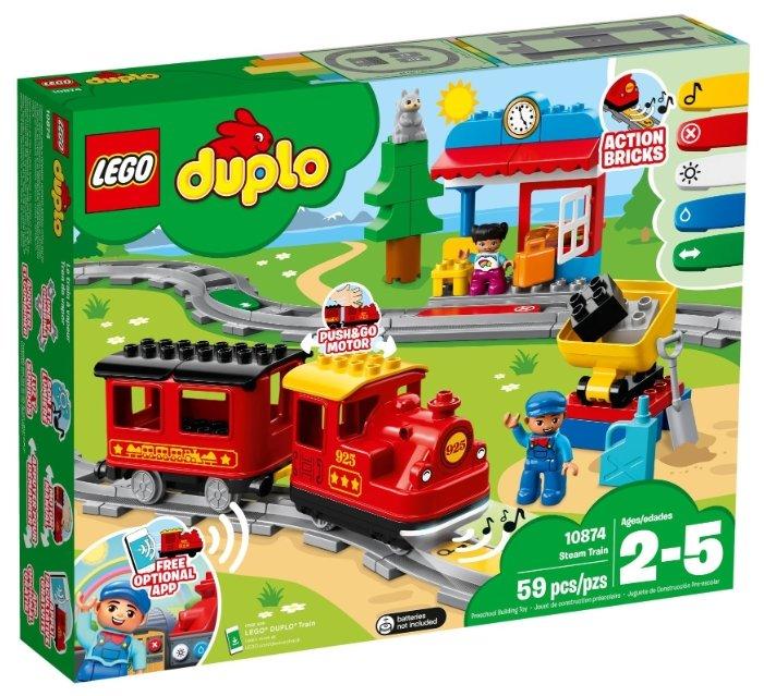 Конструкторы LEGO DUPLO 10874 Конструктор лего дупло Поезд на паровой тяге