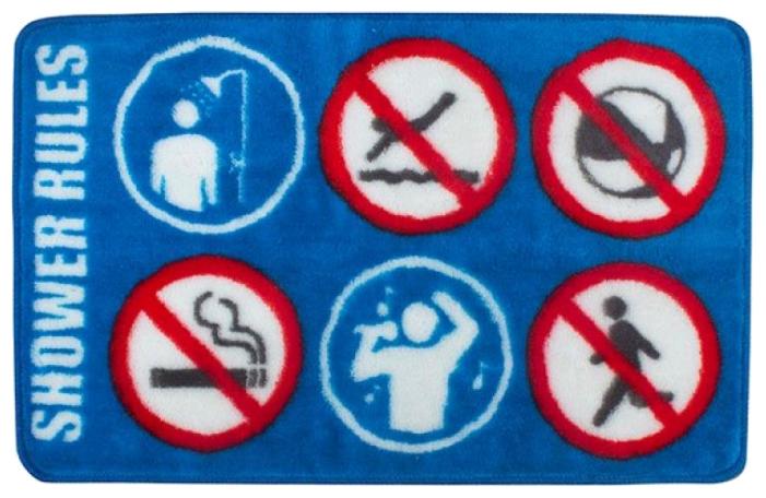 Коврик balvi Shower Rule, 75x46 см