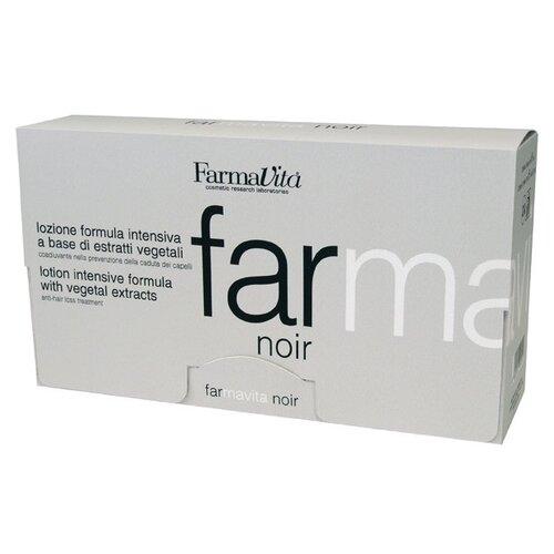 FarmaVita NOIR Лосьон против выпадения волос для мужчин для волос и кожи головы, 8 мл, 12 шт. ducray неоптид лосьон от выпадения волос для мужчин 100 мл
