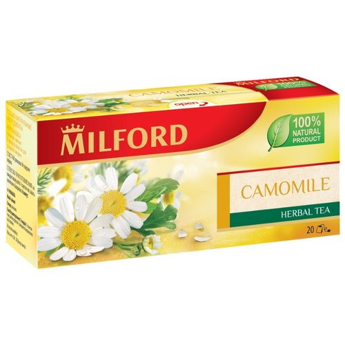 Чайный напиток травяной Milford Camomile в пакетиках, 20 шт. чай зеленый milford wellness в пакетиках 20 шт