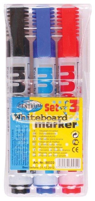 CENTRUM Маркеры для белой доски 3 цвета (80532)