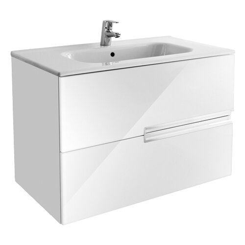 Тумба для ванной комнаты Roca Victoria Nord Ice Edition 80 (ZRU9302731), ШхГхВ: 78.6х45х55 см, цвет: белый