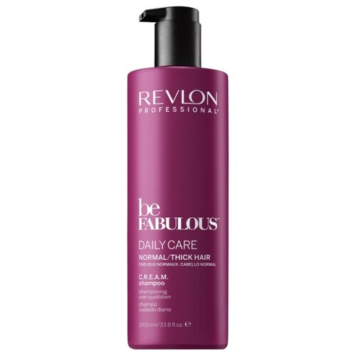 Revlon Professional шампунь Be Fabulous Daily Care Normal/Thick Hair C.R.E.A.M. 1000 мл с дозаторомШампуни<br>