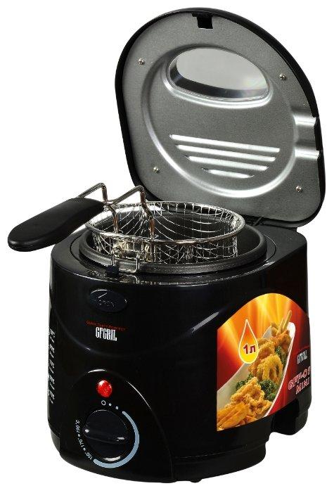 Фритюрница GFGRIL GFF-01 Mini, черный