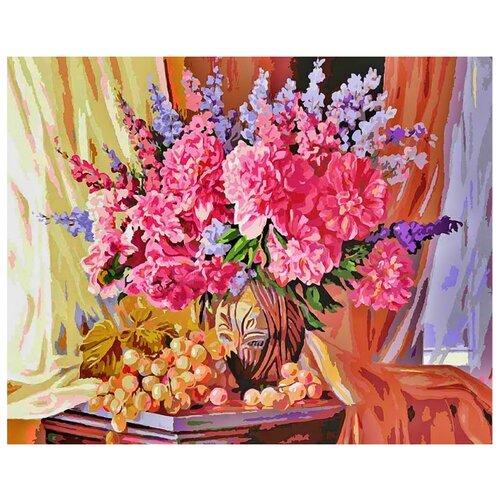 Белоснежка Картина по номерам Виноградно-пионовое 40х50 см (143-AB) картина по номерам белоснежка прыгающие карпы 005 ab