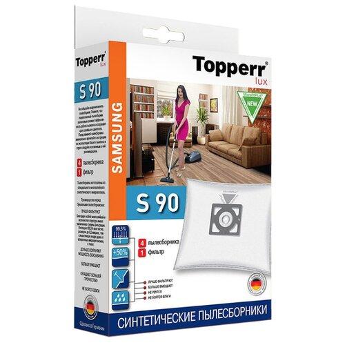 Topperr Синтетические пылесборники S90 4 шт.Аксессуары для пылесосов<br>