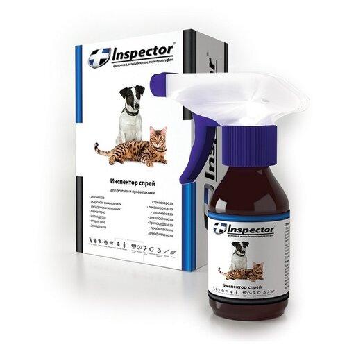 Inspector Спрей от блох, клещей и гельминтов для собак и кошек inspector total k капли от блох клещей и гельминтов для кошек от 8 до 15 кг