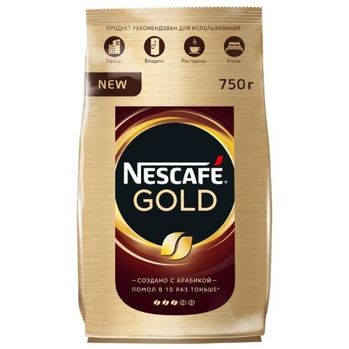 Кофе растворимый Nescafe Gold, пакет, 750 г nescafe gold 100