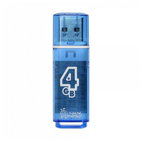 Фото - Флешка SmartBuy Glossy USB 2.0 4 GB, Нежно голубой флешка smartbuy glossy usb 2 0 32 gb изумрудный