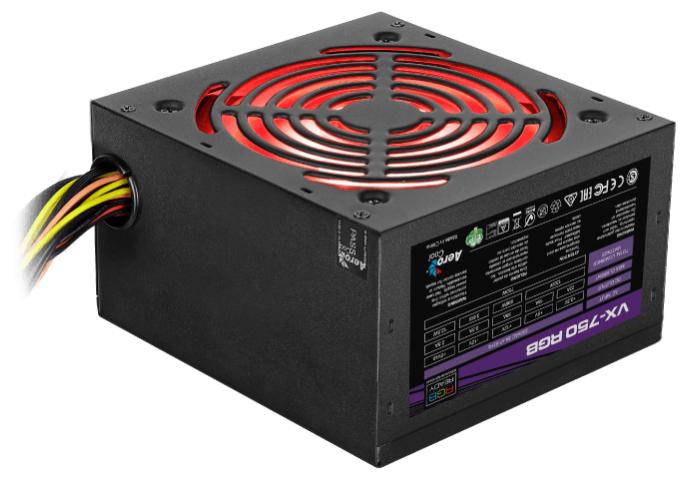 Блок питания AeroCool VX-750 RGB 750W