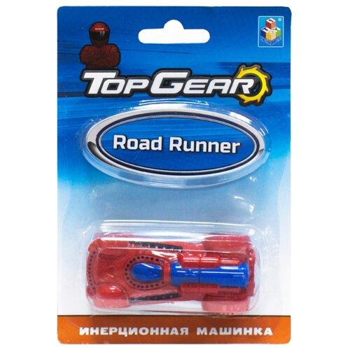 Легковой автомобиль 1 TOY Top Gear Road Runner (Т10327) 8 см красный