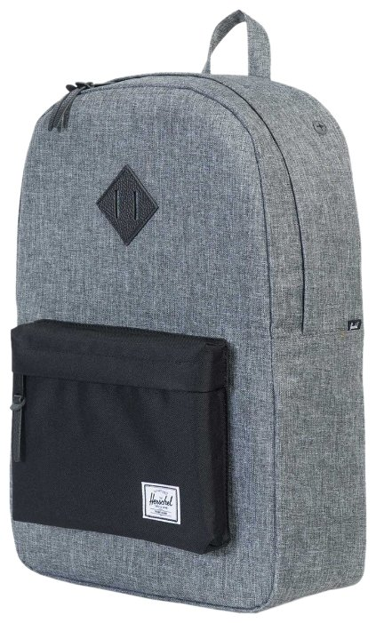 8c8329ef12c Рюкзак Herschel Heritage 21.5 grey  black (raven crosshatch  black  black  pebbled leather)