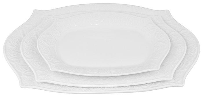 Elan gallery Набор блюд Белые розы, 3 шт.