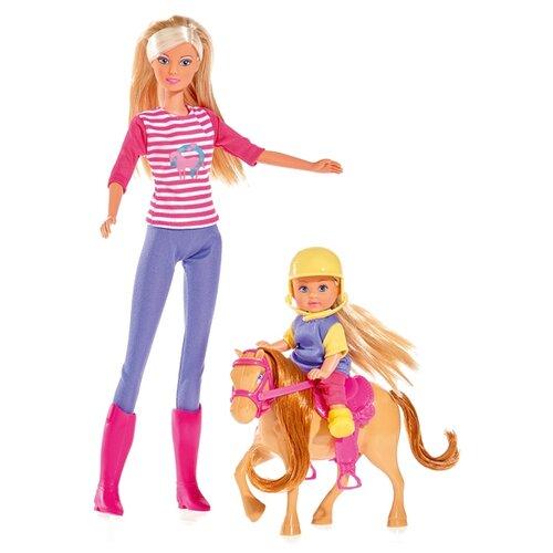 Набор кукол Steffi Love Штеффи и Еви с пони на ферме, 29 см, 5738051