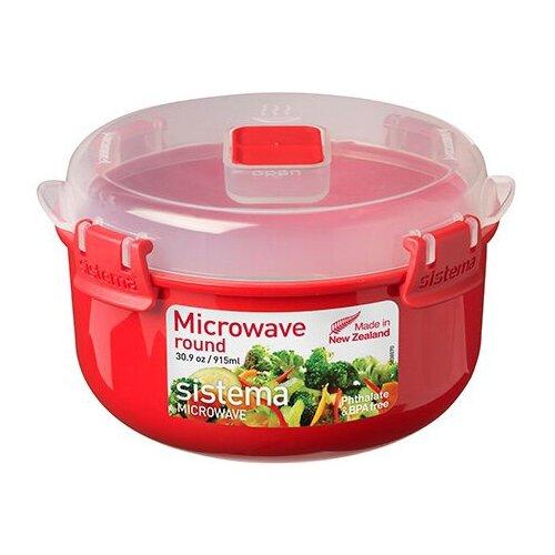 Sistema Контейнер круглый Microwave 1113 красный