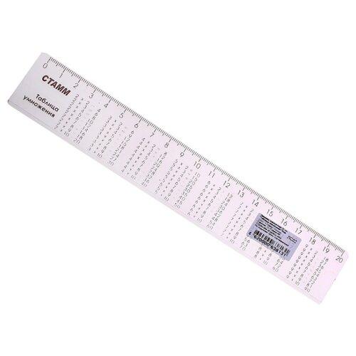 СТАММ Линейка справочная Таблица умножения 20 см (ЛС02) линейка стамм лн20 20 см пластик