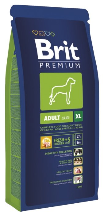 Корм для собак Brit Premium курица 15 кг (для крупных пород)