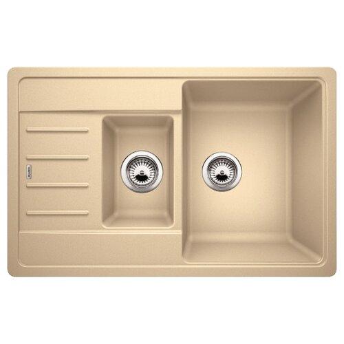 Врезная кухонная мойка 78 см Blanco Legra 6S Compact 521306 шампаньКухонные мойки<br>