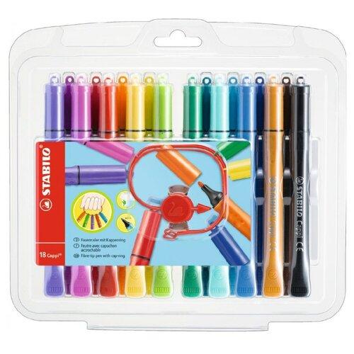 Купить STABILO Фломастеры Cappi 18 шт. (168/18-1) разноцветные