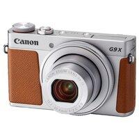 Компактный фотоаппарат Canon PowerShot G9 X Mark II серебристый / коричневый