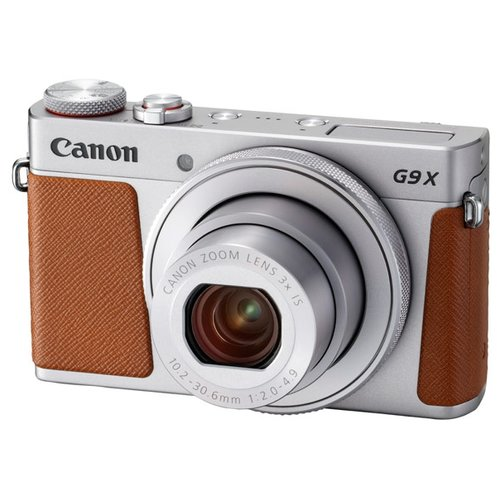 Фото - Фотоаппарат Canon PowerShot G9 X Mark II серебристый / коричневый фотоаппарат canon powershot sx740 hs black