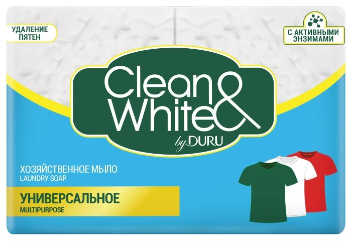 Хозяйственное мыло DURU Сlean & White Универсальное