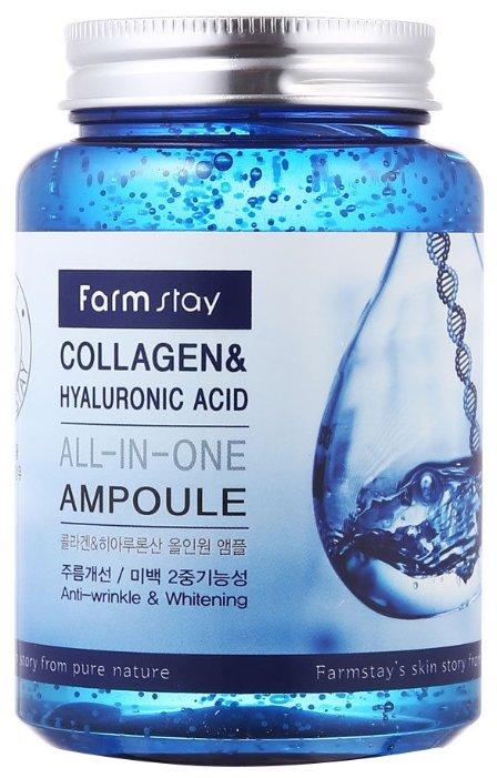 Сыворотка FarmStay Collagen & Hyaluronic Acid All-In-One Ampoule, 250мл