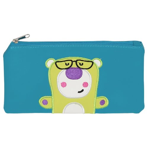 Купить Феникс+ Пенал-косметичка Забавный мишка (40489) голубой/желтый, Пеналы