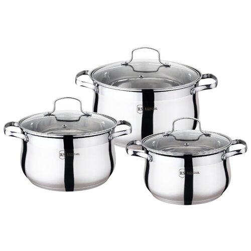 Набор кастрюль Rainstahl 1454-06RS/CW 6 пр. стальной набор посуды rainstahl 6 предметов 1616 06rs cw